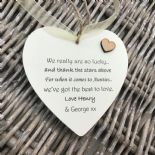 Shabby personalised Gift Chic Heart Plaque Special Auntie Aunty Great Aunt Gift - 233008300455